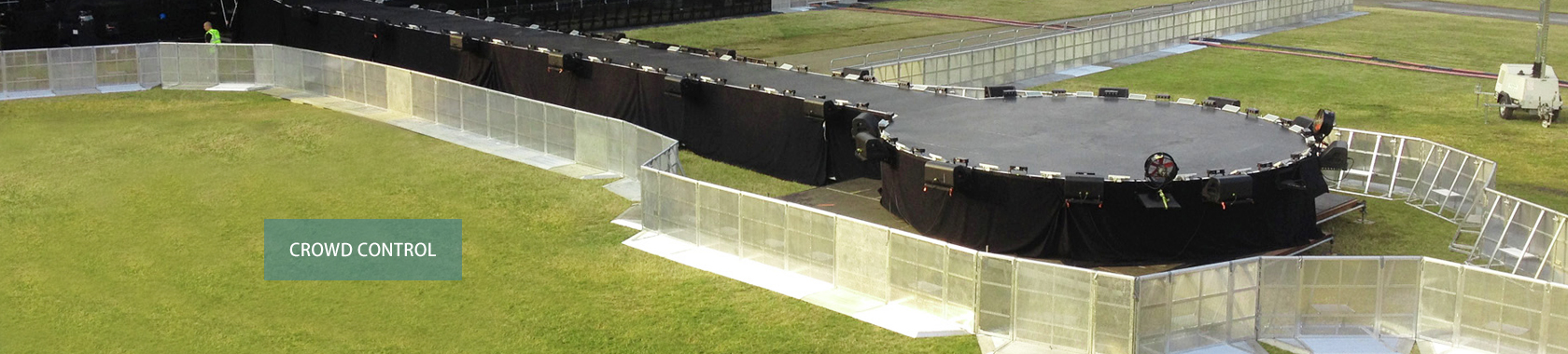 SNAKE Gate Barriers For Stage Crowd Control