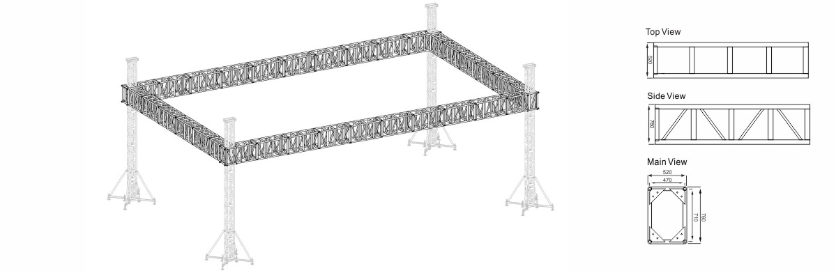 Square Event Truss Project Design