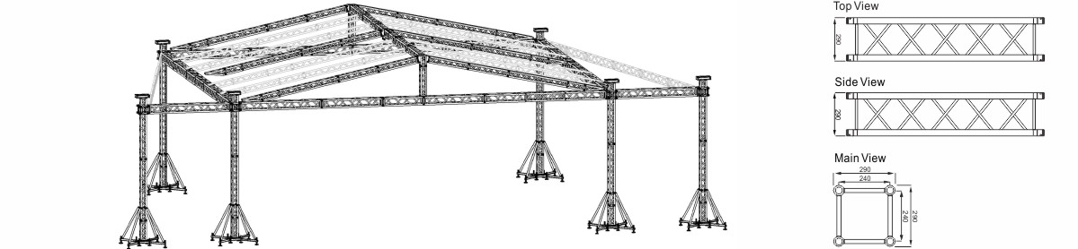 Square Lighting Truss Projects Design