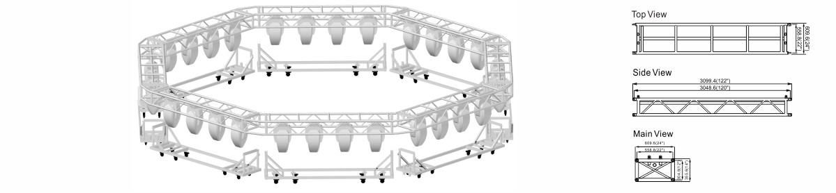 Aluminum Catwalk Touring Truss Design