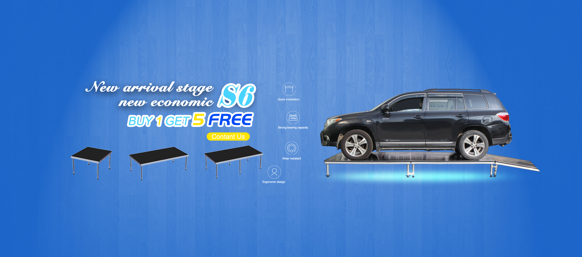 S6 New Upgrade Portable Mobile Stage Promotion