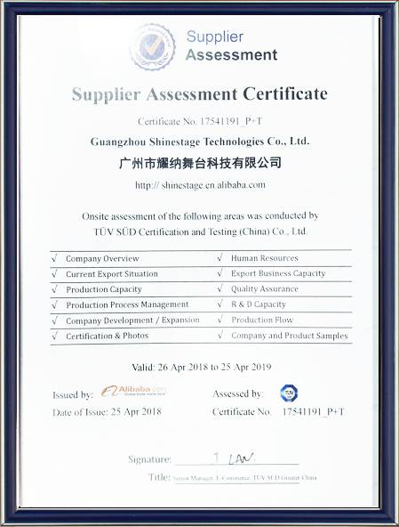 Alibaba Golden Supplier Certification