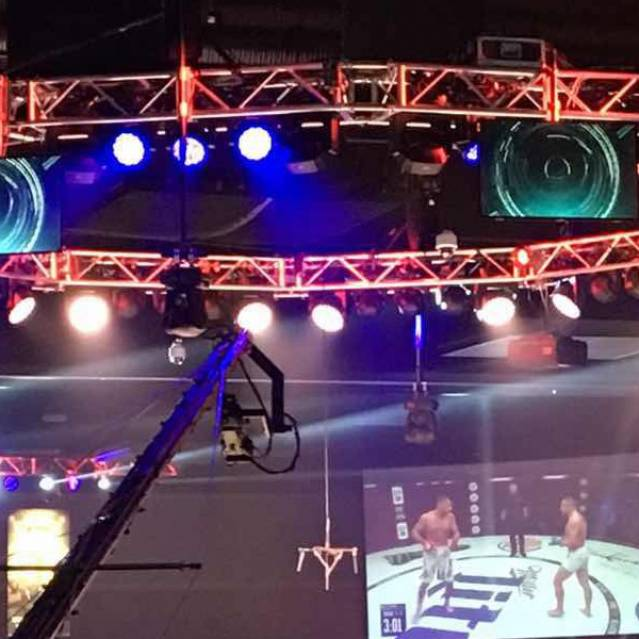 The USA Light-Weight Boxing Tour Stage Truss System