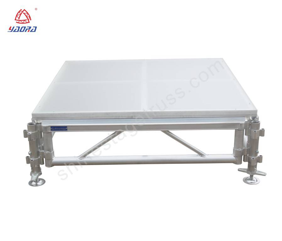 Adjustable Plywood / Acrylic Glass Assemble Stage