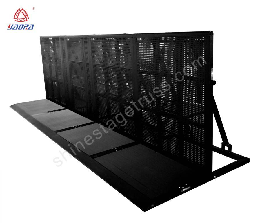 Black Outdoor Crowd Control Barriers (Stand 1*1.2*1.2m)